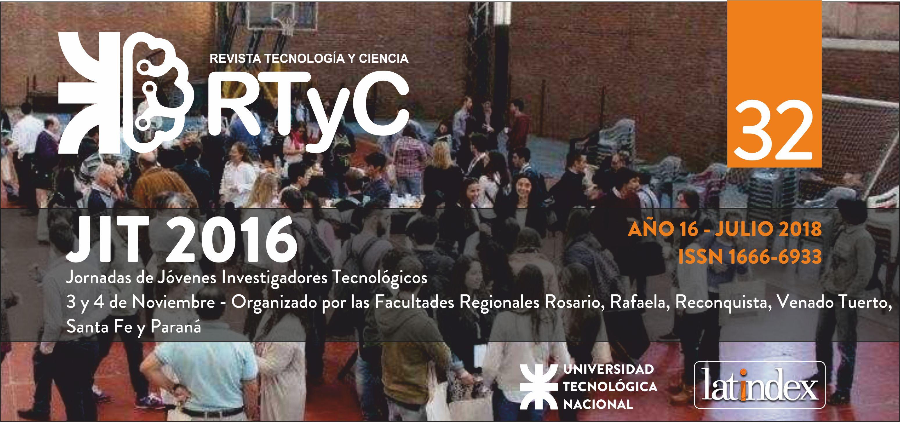 Ver Núm. 32 (2018): Jóvenes Investigadores Tecnológicos 2016 (JIT 2016)