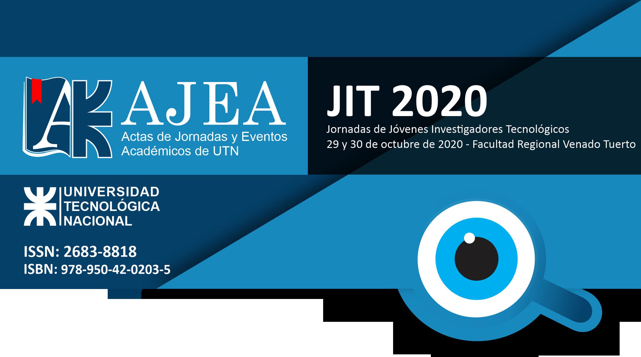 Ver Núm. 8 (2020): Jornadas de Jóvenes Investigadores Tecnológicos